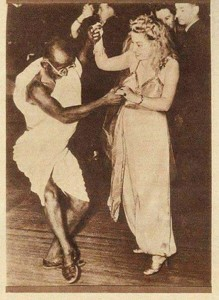 Gandhi dancing