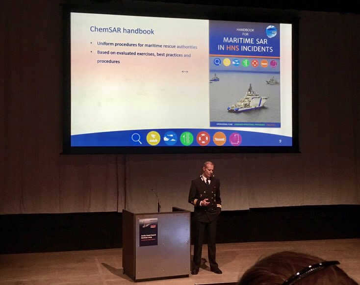 ChemSAR SOPS for maritime HNS incidents presented to Arctic rescue authorities and services