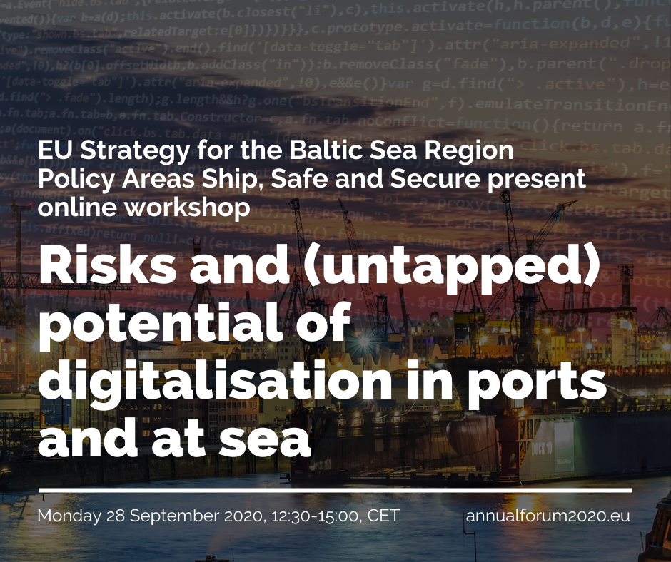 Workshop: Risks and (untapped) Potential of Digitalisation in Ports and at Sea