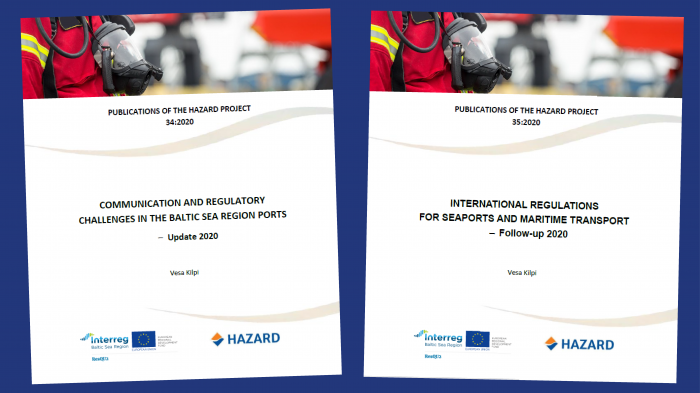 HAZARD project published two Follow-up Studies Concerning Seaport Safety & Security Regulations and Standards