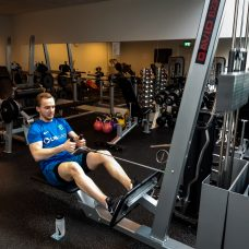 Kristaps at the gym, Campus Sport, gym, fitness, Turku, UTU, student life, Educarium