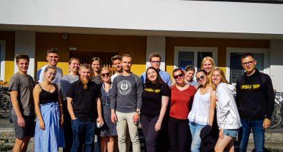 Guests from Rīga Stradiņš University Student Union, Latvia.