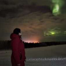 Laura and her first aurora experience
