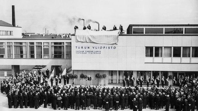Turun yliopiston päärakennuksen vihkiäiset vuodelta 1959